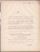 NEVERS FRANCE Rose-Esther Marquise De MAISONFORT Veuve Du Comte François-Ignace De CHANGY 79 Ans 1850 Officier Louis XVI - Overlijden