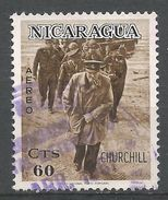 Nicaragua 1966. Scott #C586 (U) Winston Churchill, Military Inspection - Nicaragua