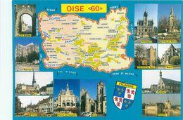 Carte Géographique -  Departement  De L 'Oise                                           AX1574 - Cartes Géographiques