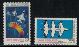 Aviation // Turquie  // Poste Aérienne , 1988, Timbre Neufs *  No. Y&T 2580-2581 - Flugzeuge