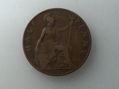 UK 1/2 PENNY 1910 HALF GRANDE BRETAGNE - 1902-1971 : Monnaies Post-Victoriennes