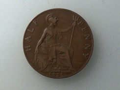 UK 1/2 PENNY 1915 HALF GRANDE BRETAGNE - 1902-1971 : Monnaies Post-Victoriennes