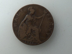 UK 1/2 PENNY 1916 HALF GRANDE BRETAGNE - 1902-1971 : Monnaies Post-Victoriennes