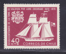 CHILI N°  343 ** MNH Neuf Sans Charnière, TB (D4166) Prise De Valdivia Par Lord Thomas Cochrane - Chili