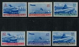 Aviation // Turquie  // Poste Aérienne , 1954, Timbre Neufs *  No. Y&T 28-33 - Aerei