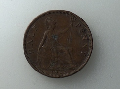 UK 1/2 PENNY 1925 HALF GRANDE BRETAGNE - 1902-1971 : Monnaies Post-Victoriennes