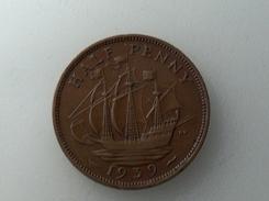 UK 1/2 PENNY 1939 HALF GRANDE BRETAGNE - 1902-1971 : Monnaies Post-Victoriennes