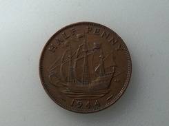 UK 1/2 PENNY 1944 HALF GRANDE BRETAGNE - 1902-1971 : Monnaies Post-Victoriennes