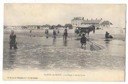 Cpa: 85 SAINT JEAN DE MONTS (ar. Les Sables D'Olonne) Plage à Marée Haute (Pêcheuse De Crevettes, Précurseur) N° 26 - Saint Jean De Monts