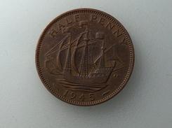 UK 1/2 PENNY 1945 HALF GRANDE BRETAGNE - 1902-1971 : Monnaies Post-Victoriennes
