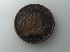UK 1/2 PENNY 1946 HALF GRANDE BRETAGNE - 1902-1971 : Monnaies Post-Victoriennes