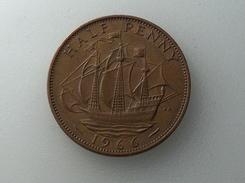 UK 1/2 PENNY 1966 HALF GRANDE BRETAGNE - 1902-1971 : Monnaies Post-Victoriennes