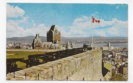 (RECTO / VERSO) CANADA - QUEBEC - LA CITADELLE - BEAU TIMBRE - FORMAT CPA VOYAGEE - Québec - La Citadelle