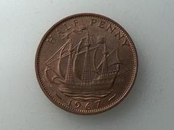 UK 1/2 PENNY 1967 HALF GRANDE BRETAGNE - 1902-1971 : Monnaies Post-Victoriennes