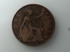 UK 1 PENNY 1918 ONE GRANDE BRETAGNE - 1902-1971 : Monnaies Post-Victoriennes