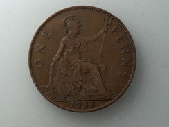 UK 1 PENNY 1928 ONE GRANDE BRETAGNE - 1902-1971 : Monnaies Post-Victoriennes