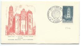 ENVELOPPE N° 1504 CATHEDRALE DE RODEZ / AVEYRON / CACHET DU CONGRES PHILATELIQUE DU GROUPEMENT 1970 - Gedenkstempel