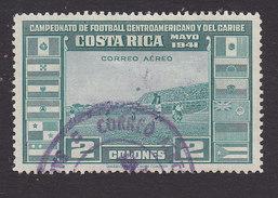 Costa Rica, Scott #C65, Used, Soccer, Issued 1941 - Costa Rica