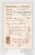 08 528 GIVET ARDENNES Peintre J. COLOMBIES Peinture Vitrerie Succ VEUVE ACHILLE LEBRUN Et  H.P BOMBARON - France