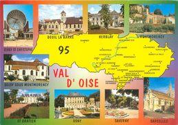 Carte Géographique -  Departement  Du Val D' Oise                   AX1583 - Cartes Géographiques