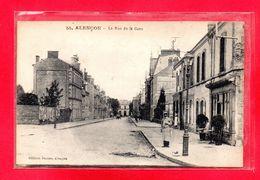 61-CPA ALENCON - LA RUE DE LA GARE - Alencon
