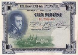 ESPAGNE BILLET DE 100 PESETAS DE 1925 ALPHABET / F - [ 1] …-1931 : First Banknotes (Banco De España)