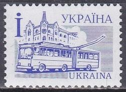 Ukraine 1995 Verkehrswesen Transport Verkehrsmittel Autobus Trolleybus, Mi. 156 I ** - Ukraine
