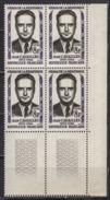 FRANCE 1958 - BLOC DE 4 TP  Y.T. N° 1157  - COIN DE FEUILLE NEUFS** - Ungebraucht