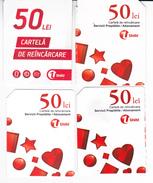 Moldova , Moldavie  Moldau ,  Prepaid Phonecard -  Unlte , 50 Lei , Tipe 2+3 ,4 Ex. Differents , Paper , Used - Moldova
