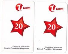 Moldova , Moldavie  Moldau ,  Prepaid Phonecard -  Unlte , 20 Lei , 2011 +2012 , Paper , Used - Moldova