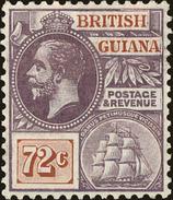 British Guiana Scott #187, 1913, Hinged - British Guiana (...-1966)