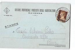 16202 UNIONE PROVINCIALE FASCISTA DEGLI AGRICOLTORI RAVENNA X RUSSI - Storia Postale