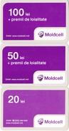 Moldova , Moldavie  Moldau ,  Prepaid Phonecard -  Moldcell , Set , Paper , Used - Moldova