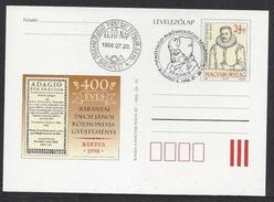 HUNGARY - 1998.Postal Stationery - Proverb Collection  Of János Baranyai Decsi / Parömiology Cat.No:1536. FDC!!! - Ganzsachen