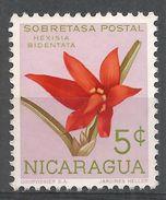 Nicaragua 1962. Scott #RA66 (M) Hexisia Bidentata, Flower, Orchid - Nicaragua