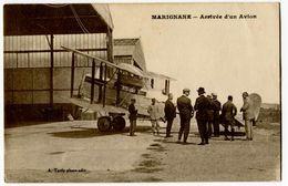 CPA Marignane 13 Arrivée D'un Avion Posé Et Animée A. Tardy Photo,Edit. - Marignane