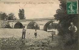 30  AUZON  LE PONT Animée Voyagée En 1908 - Vergèze