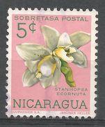 Nicaragua 1962. Scott #RA68 (U) Stanhopea Ecornuta, Flower, Orchid - Nicaragua