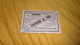 BUVARD ANCIEN DATE ?. / OLIVIER & FILS PLANTES MEDICINALES & AROMATIQUES. BOURGES. - Blotters