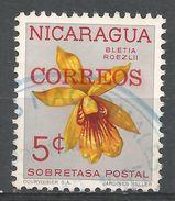 Nicaragua 1962. Scott #RA73 (U) Bletia Roezlii, Flower, Orchid - Nicaragua