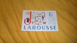 BUVARD ANCIEN DATE ?. / LAROUSSE LETTRE J... - Buvards, Protège-cahiers Illustrés