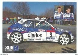 CPM Peugeot Sport Championnat De France Des Rallyes 1997 306 Maxi Pilote G Panizzi H Panizzi - Rally Racing
