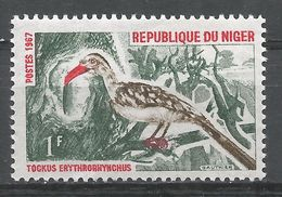 Niger 1967. Scott #184 (M) Redbilled Hornbill, Bird, Oiseau - Niger (1960-...)