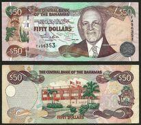 Bahamas, 2000, Extremely Fine, 50 Dollars, Banknote Paper Money Bill, P-66 - Bahamas