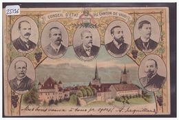 LAUSANNE - CONSEIL D'ETAT DU CANTON DE VAUD EN 1903 - TB - VD Vaud
