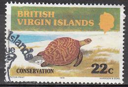 BRITISH VIRGIN ISLANDS       SCOTT NO  348    USED       YEAR   1979 - Iles Vièrges Britanniques