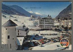 V3137 APRICA PIAZZALE FUNIVIA DEL PALABIONE INDICAZIONE CIMA S. STEFANO HOTEL BOZZI VG (m) - Italia