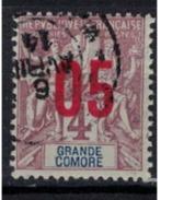 GRANDE COMORE   N°  YVERT   21   ( 3 )    OBLITERE       ( O   2/35 ) - Usati