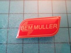 Pin510b Pin's Pins : Rare Et Belle Qualité : BEM MULLER  , Marquage Au Dos : - - - Marques