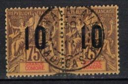 GRANDE COMORE   N°  YVERT   29  X 2   ( 2 )          OBLITERE       ( O   2/36 ) - Grande Comore (1897-1912)
